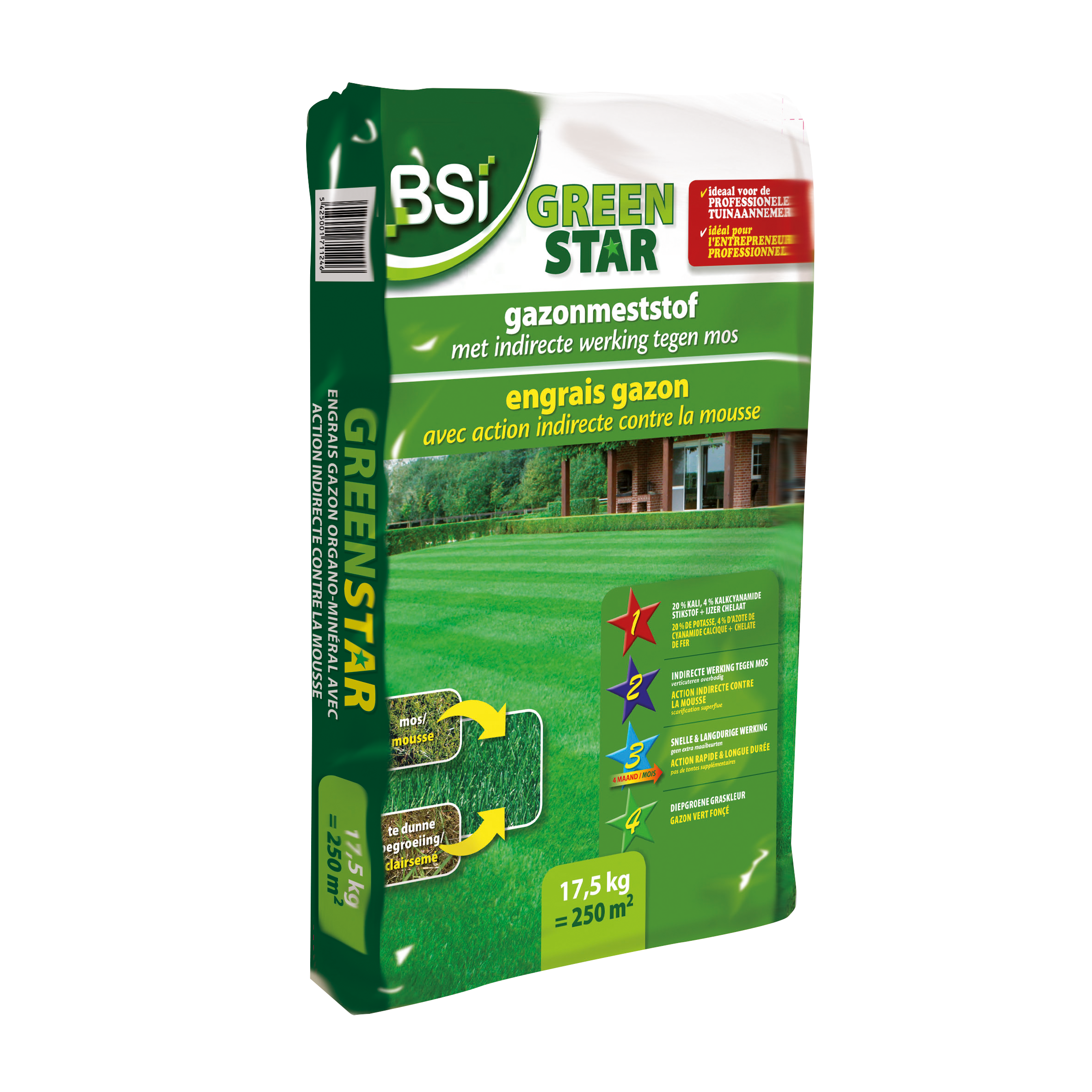 Top gazon green star 17,5 kg = 250 m² image