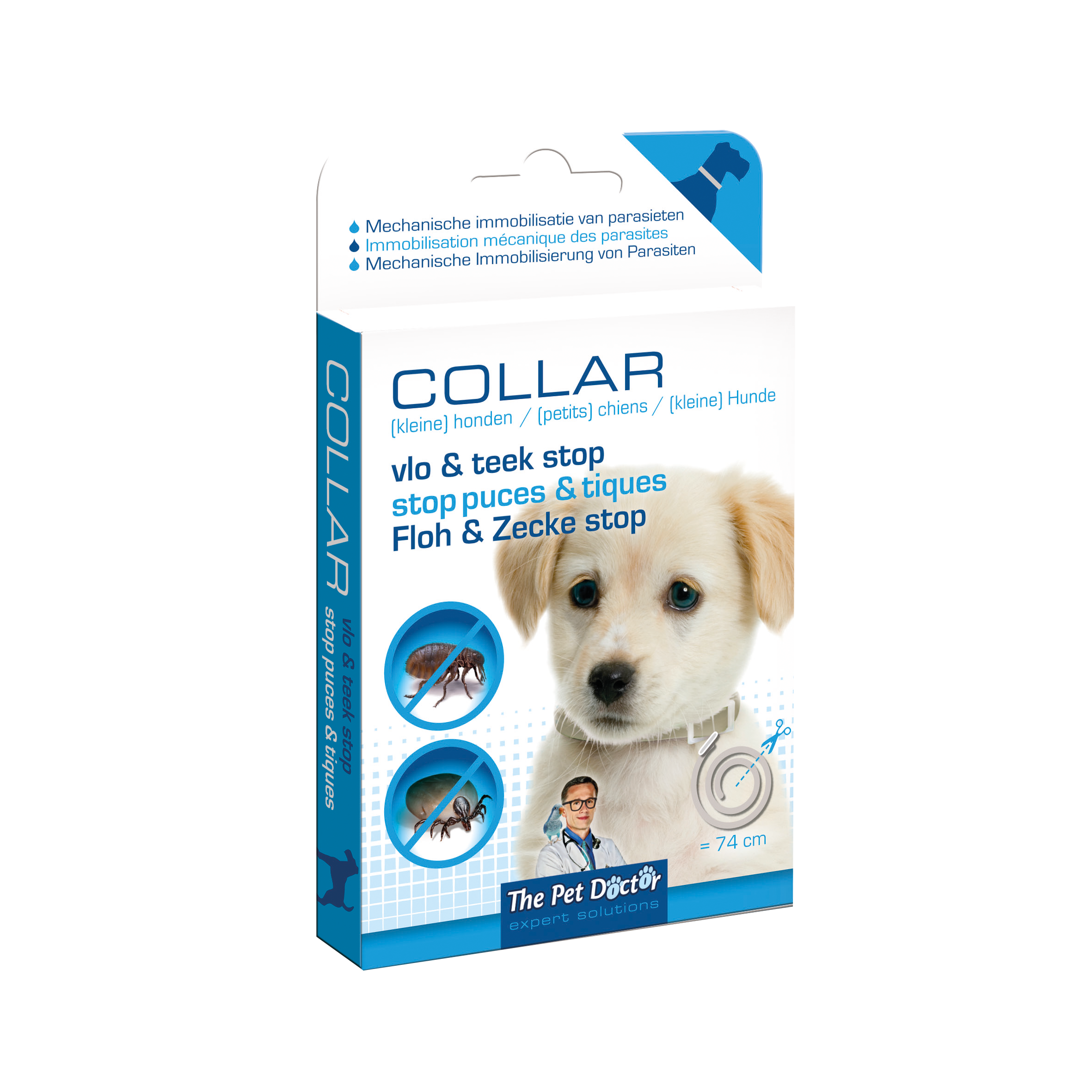 The Pet Doctor Vlo & Teek Stop Halsband Hond 74 cm image