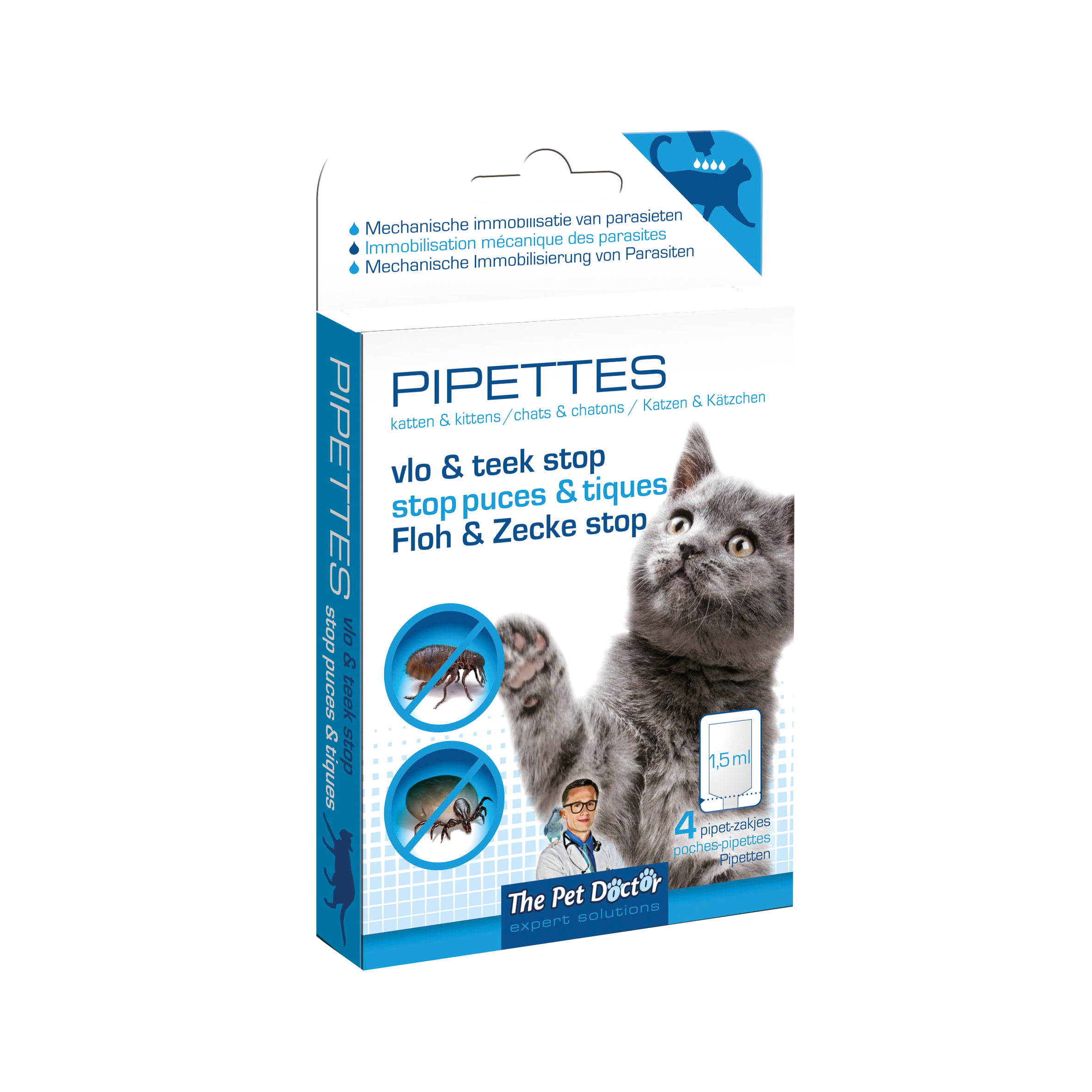 The Pet Doctor Vlo & Teek Stop Pipettes Kat image